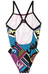 adidas Infinitex + Pulse Graphic Swimsuit Women black/shock purple f16/shock blue s16